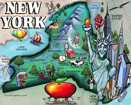 New York State Maps With Cities New York State Map of