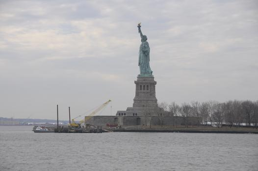 Pier Damaged by Sandy at Statue of Liberty