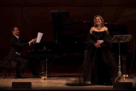 Renée Fleming accompanied by Bradley Moore on piano.