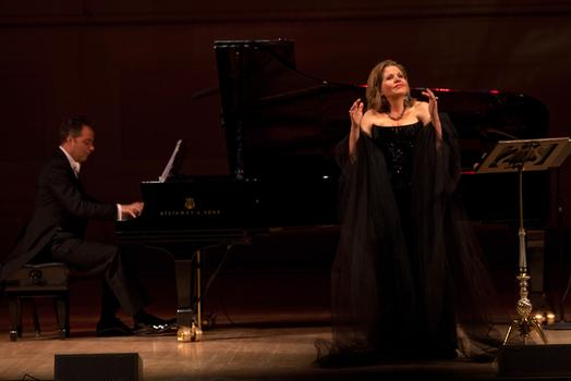 Soprano Renée Fleming accompanied by Bradley Moore on piano.