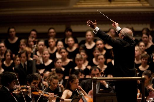 Daniel Barenboim conducts the West-Eastern Divan Orchestra in Beethoven's Symphony No. 9.