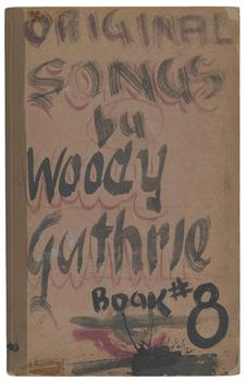 One of Woody Guthrie's notebooks from Coney Island, New York, 1945-1949.