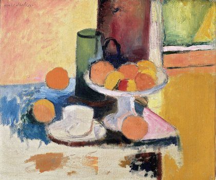 Henri Matisse (French, 1869–1954). Still Life with Compote and Fruit. 1899. Oil on canvas, 18 1/8 x 21 7/8 in. (46 x 55.6 cm).