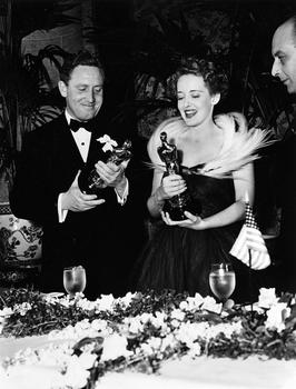 Spencer Tracy and Bette Davis, 1938 (11th) Academy Awards®.