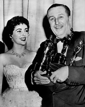 Elizabeth Taylor and Walt Disney, 1953 (26th) Academy Awards®