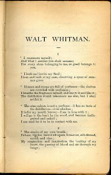 Why did Walt Whitman write