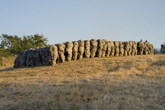 Ursula von Rydingsvard. Paddy-Wack. Cedar, Graphite 6' x 30' x 60.' 1997. Photo Roslyn Banish