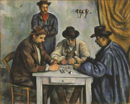 Paul Cézanne's 'The Card Players,' produced circa 1890-92.