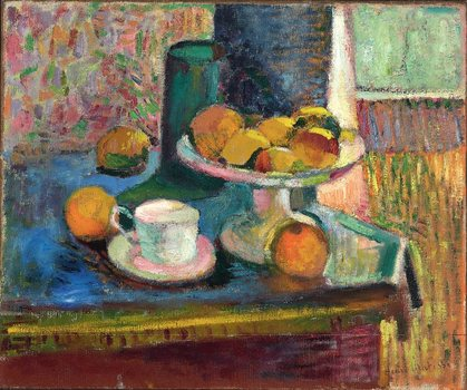 Henri Matisse (French, 1869–1954). Still Life with Compote, Apples, and Oranges. 1899. Oil on canvas, 18 1/4 x 21 7/8 in. (46.4 x 55.6 cm)