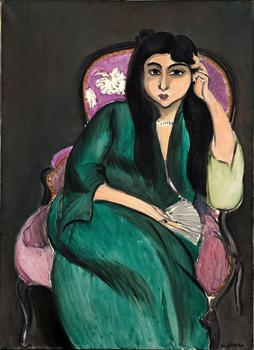 Henri Matisse (French, 1869–1954). Laurette Seated on a Pink Armchair. 1916-17. Oil on canvas, 39 3/8 x 28 3/4 in. (100 x 73 cm)