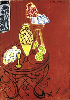 Henri Matisse (French, 1869–1954). Interior in Venetian Red. 1946. Oil on canvas, 36 1/4 x 25 9/16 in. (92 x 65 cm)