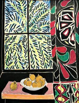 Henri Matisse (French, 1869–1954). Interior with an Egyptian Curtain. 1948. Oil on canvas, 45 3/4 x 35 1/8 in. (116.2 x 89.2 cm)