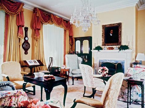 The main sitting room of Blair House. Margaret Thatcher was the first head-of-state to stay in its quarters.