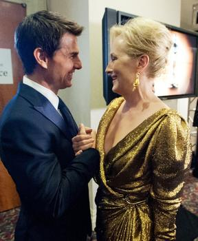 Tom Cruise, Meryl Streep at the 2011 (84th) Academy Awards®