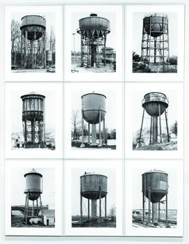 Bernd Becher (1931–2007) and Hilla Becher (1934–), Water Towers, 1980; nine gelatin silver prints, approximately 156 x 125 cm (611/4 x 491/4 inches), Sonnabend Gallery, New York picture credit: © Bern