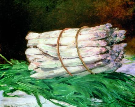 Édouard Manet (1832–83), Bunch of Asparagus, 1880; oil on canvas, 46 x 55 cm (18 x 215/8 inches) Wallraf-Richartz-Museum, Cologne