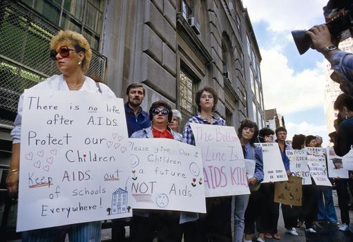 Parents Protesting Board of Education, 1985