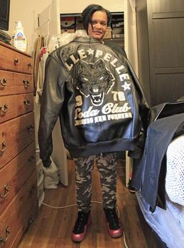 One of the teen's most prized pieces of clothing was his Pelle Pelle leather jacket.
