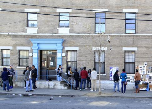 The South Bronx block is a hangout for local youth.