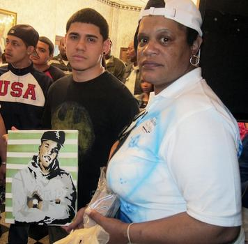 One of BeeJay's friends presented Van Doten with a portrait of her son at the funeral.