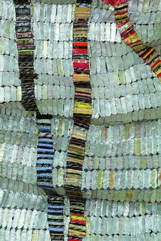 Detail of El Anatsui's Delta, 2010. Photo Courtesy Jack Shainman Gallery, New York.