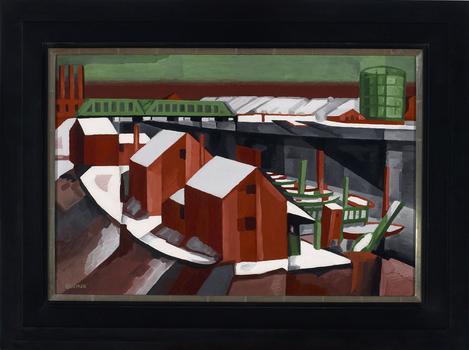 "Oscar Bluemner, ""Hackensack River,"" ca. 1912"