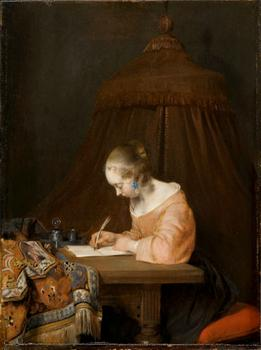 Gerard ter Borch (1617–1681). Woman Writing a Letter, c. 1655.