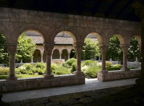 View of the Cuxa Cloister at the Cloisters Museum and Gardens