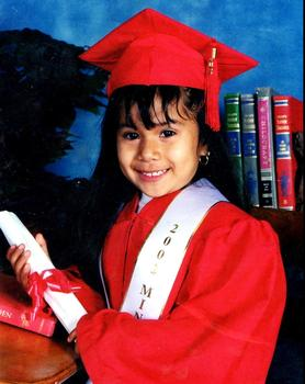 Nancy's kindergarten graduation photo