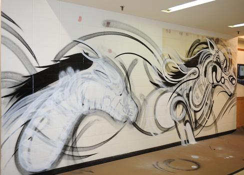 The group includes street artists from South Africa, Italy and Sweden.