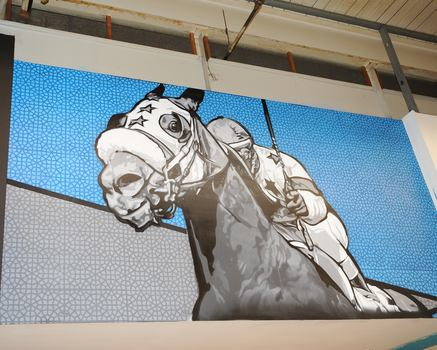 Each mural will remain on display at Aqueduct indefinitely.
