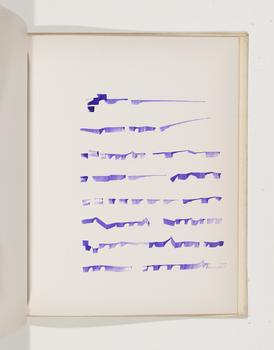Mirtha Dermisache, Livre 3, 1970. Bound book, ink on paper
