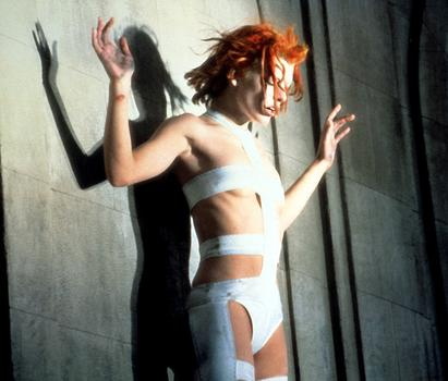 Milla Jovovich as Leeloo in Luc Besson's 1997 film The Fifth Element.
