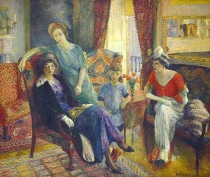 William Glackens, Family Group, 1910/1911