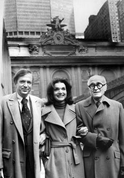Fred Papert of the Municipal Art Society, Jacqueline Kennedy Onassis, and Philip Johnson joined to save Grand Central.