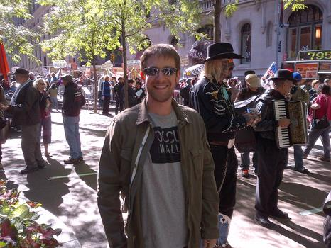 Harry Waisbren, 27, voted for de Blasio.  But he understands why the Occupy movement does not endorse candidates.