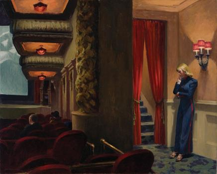 Edward Hopper (1882–1967) New York Movie, 1939 .