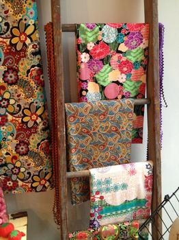 """""""I'm really into florals,"""" said Moni Briones of her fabrics."""