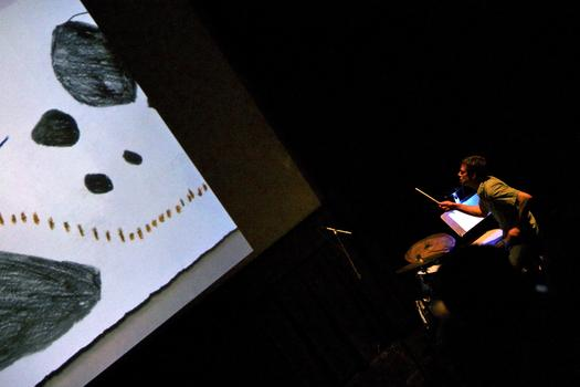 Clara Claus Presents 'Graphic Score' With Bryce Dessner and Friends in the BAM Rose Cinemas on the last day of the 2013 Crossing Brooklyn Ferry festival.