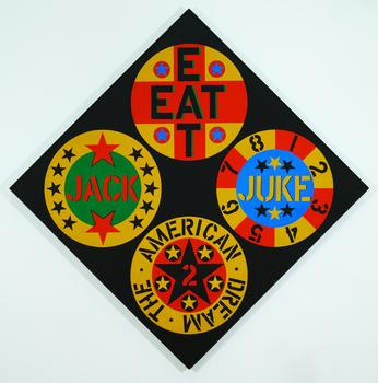 Robert Indiana, The Black Diamond American Dream #2, 1962