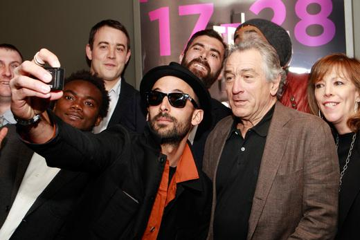 "The artist JR (and Robert DeNiro) at the Tribeca Film Festival premiere of ""Inside Out"""