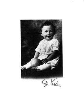 Ed Koch as a baby