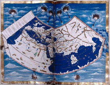 Ptolemy, Geographia. Folios 56 verso–57 recto (Part II, pages 2 and 3), World Map Manuscript, Florence ca. 1460.