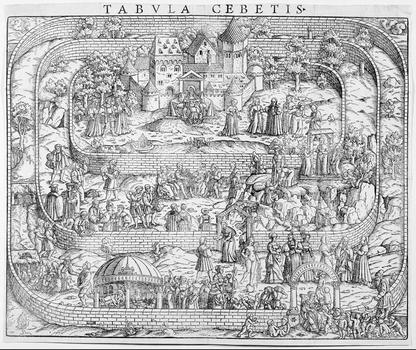 Tabula Cebetis. The Path to Virtue Printed Book, Basel 1597.