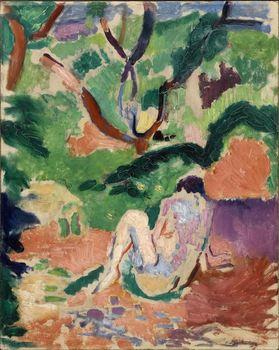 "Henri Matisse, ""Nude in a Wood (Nu dans la forêt; Nu assis dans le bois),"" 1906"
