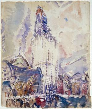 John Marin (American, 1870-1953), Woolworth Building, No. 28, 1912.