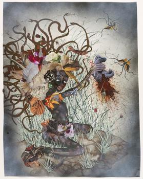 Wangechi Mutu, The Bride Who Married a Camel's Head, 2009