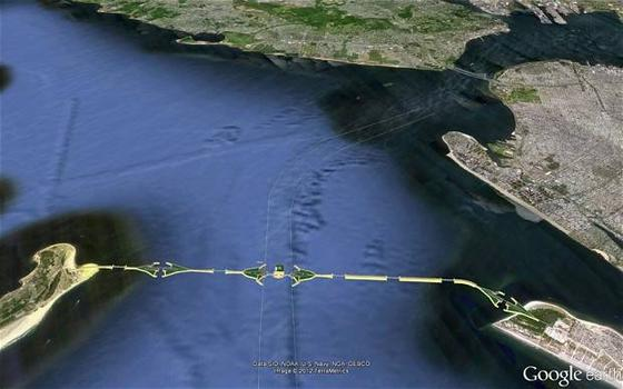 Proposed Outer Harbor Gateway. Courtesy of Halcrow Inc.