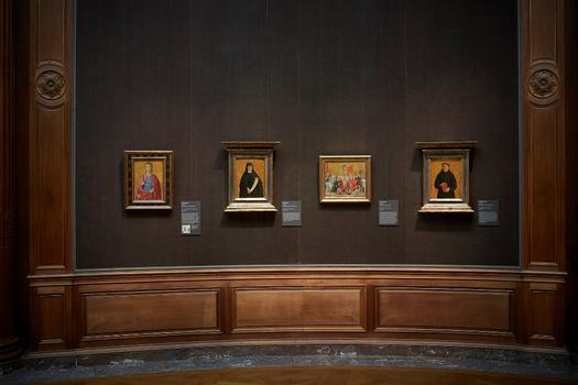 "Installation view of ""Piero della Francesca in America,"" at the Frick Collection."