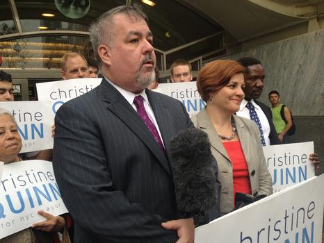 Manhattan Assemblyman Danny O'Donnell, the first openly gay man elected to the state Assembly, endorses Christine Quinn.